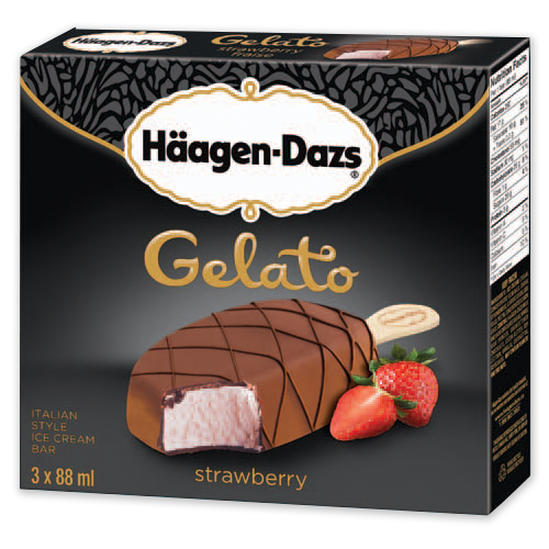 Strawberry gelato bars haagen for Gelati haagen dazs