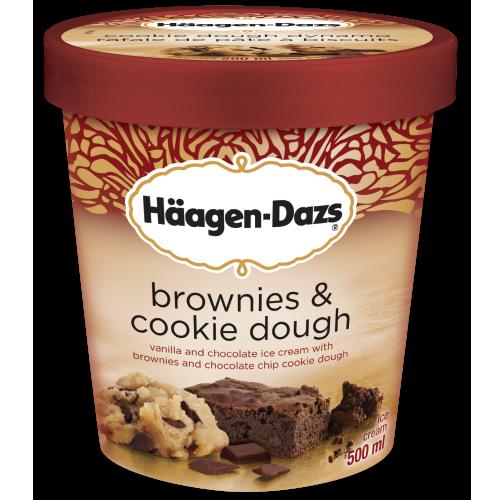Brownies & Cookie Dough Ice Cream   haagen-dazs.ca